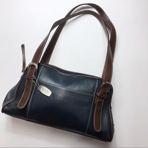 Tignanello Navy Leather Purse